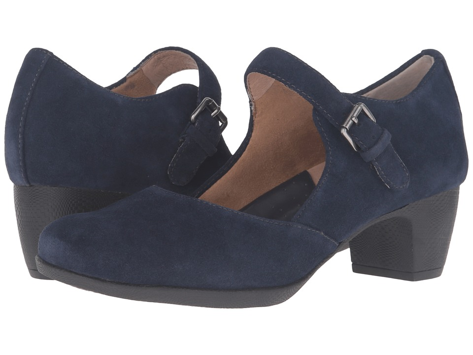 SoftWalk - Irish (Navy Suede Leather) High Heels