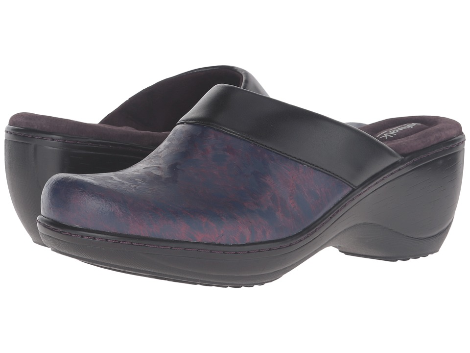 SoftWalk - Murietta (Burgundy Marble) Women's Clog Shoes