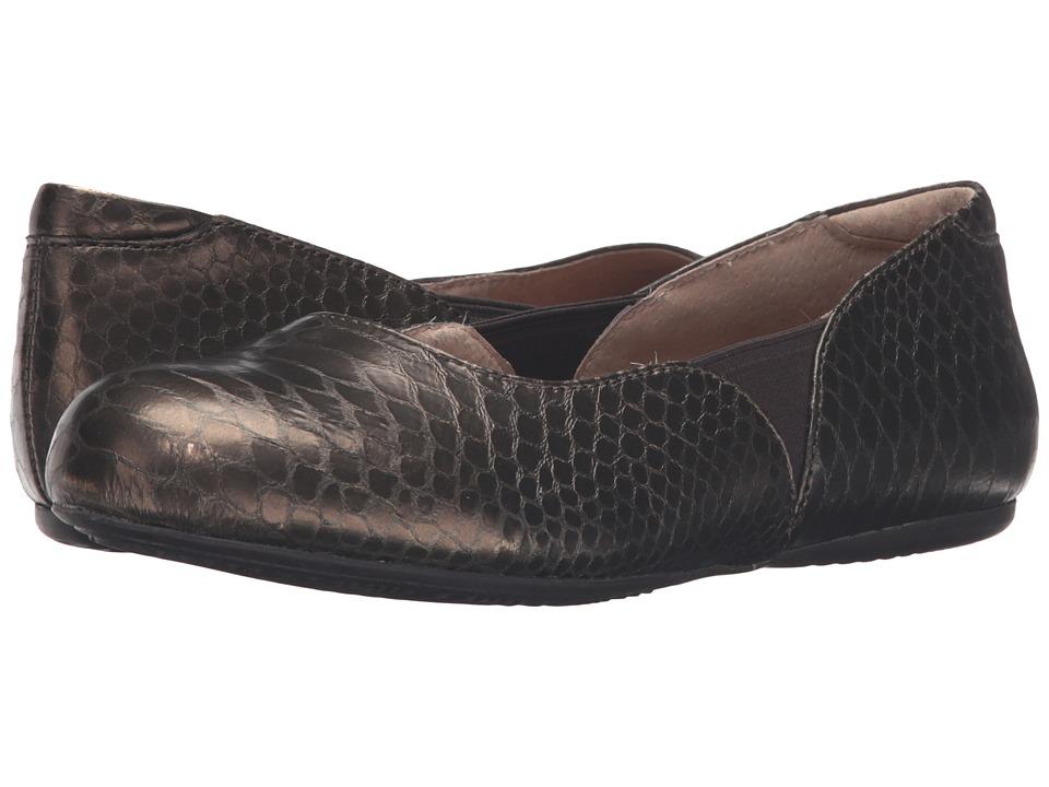 SoftWalk - Norwich (Bronze Metal Glazed Snake) Women's Dress Flat Shoes