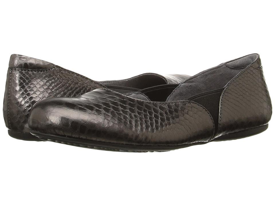 SoftWalk - Norwich (Pewter Metal Glazed Snake) Women's Dress Flat Shoes