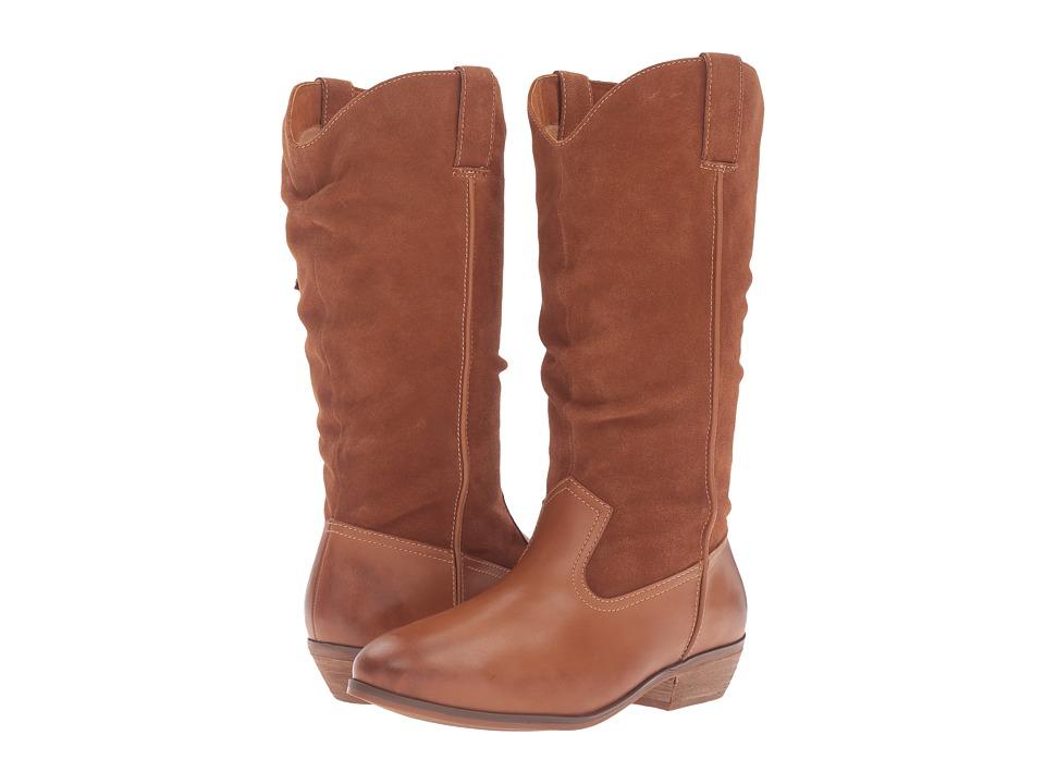 SoftWalk Rock Creek (Cognac Smooth Leather/Cow Suede) Women