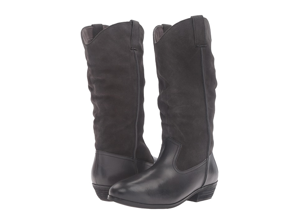 SoftWalk Rock Creek (Dark Grey Smooth Leather/Cow Suede) Women