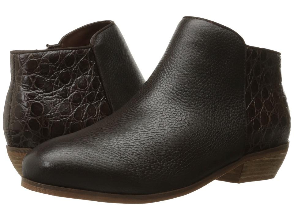 SoftWalk Rocklin (Dark Brown Tumbled Leather/Croco Leather) Women