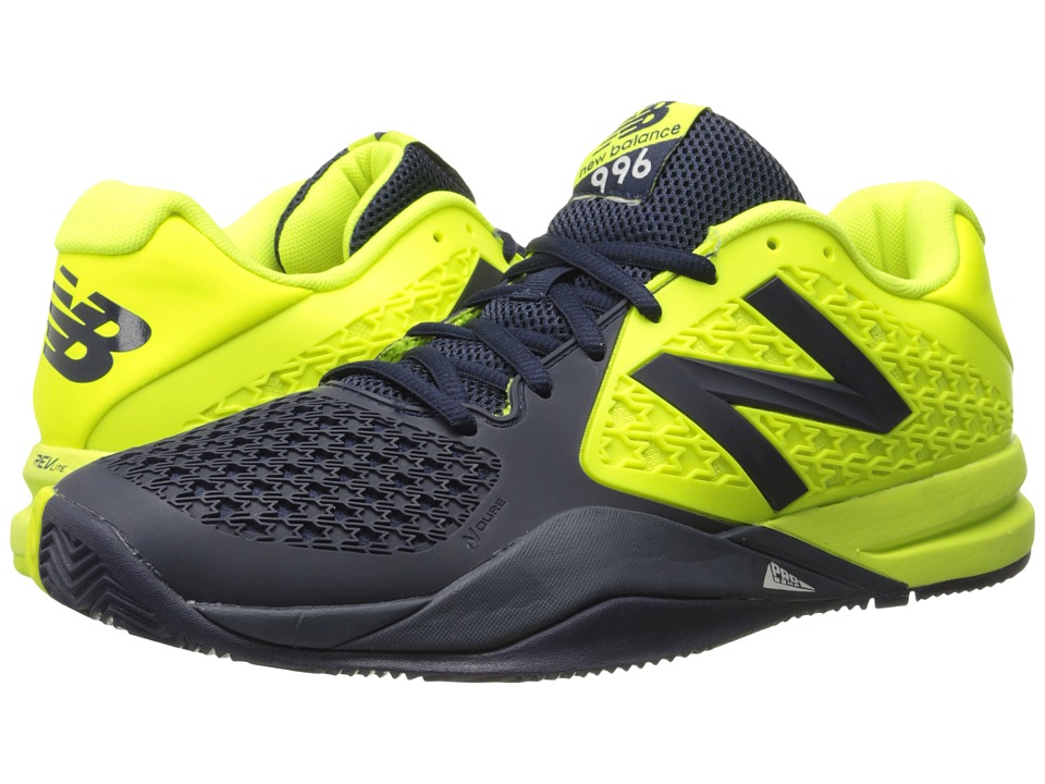 New Balance - MC996v2 (Blue/Yellow) Men's Tennis Shoes