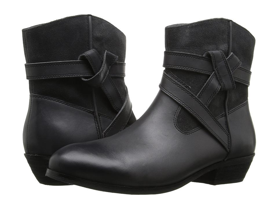 SoftWalk Roper (Dark Grey Smooth Leather/Cow Suede) Women