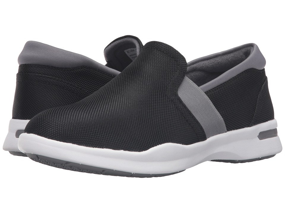 SoftWalk - Vantage (Black/Grey Ballistic Nylon) Women's Slip on Shoes