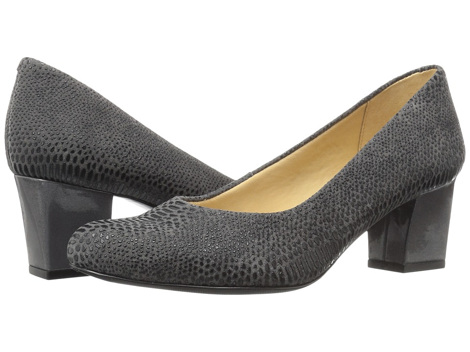Trotters Candela (Dark Grey Raised Lizard) High Heels