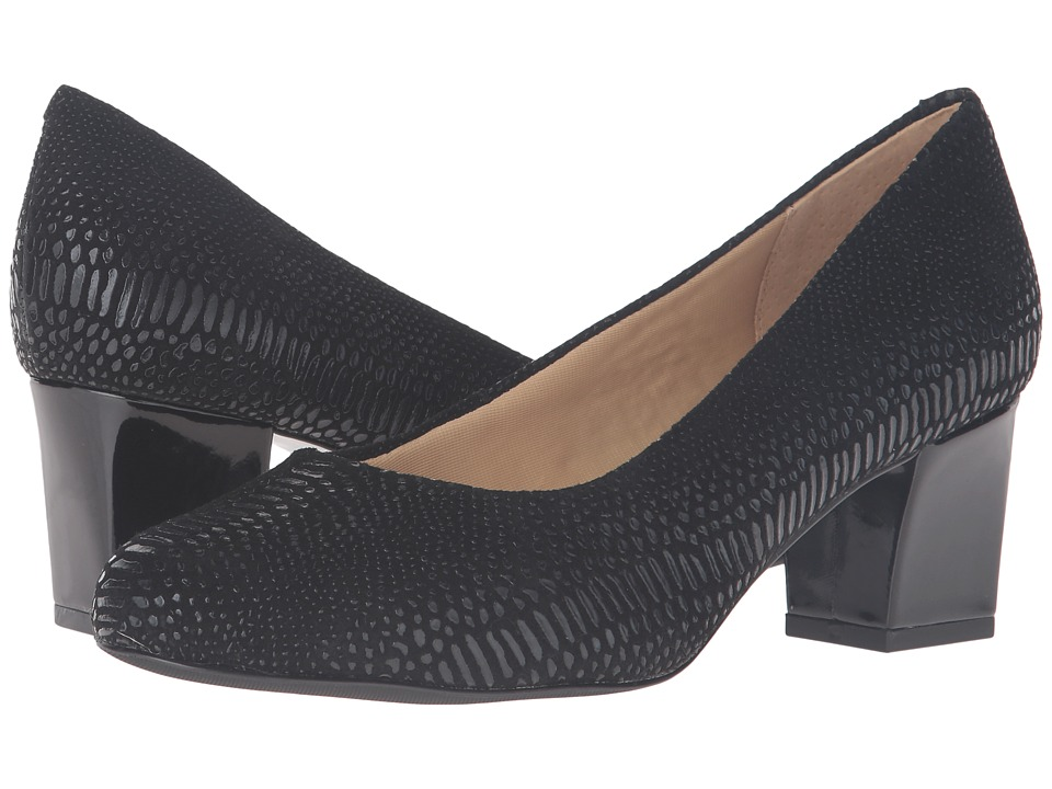 Trotters - Candela (Black Raised Lizard) High Heels