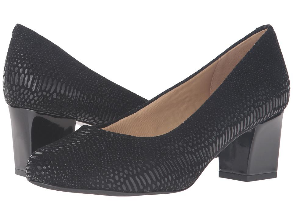 Trotters - Candela (Black Raised Lizard) High Heels