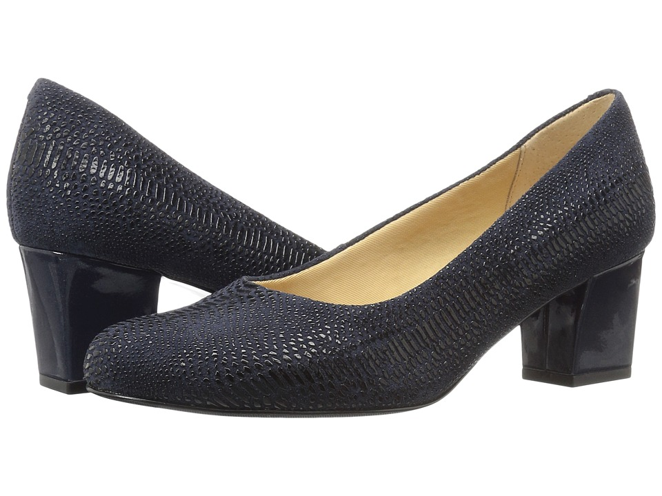Trotters - Candela (Navy Raised Lizard) High Heels