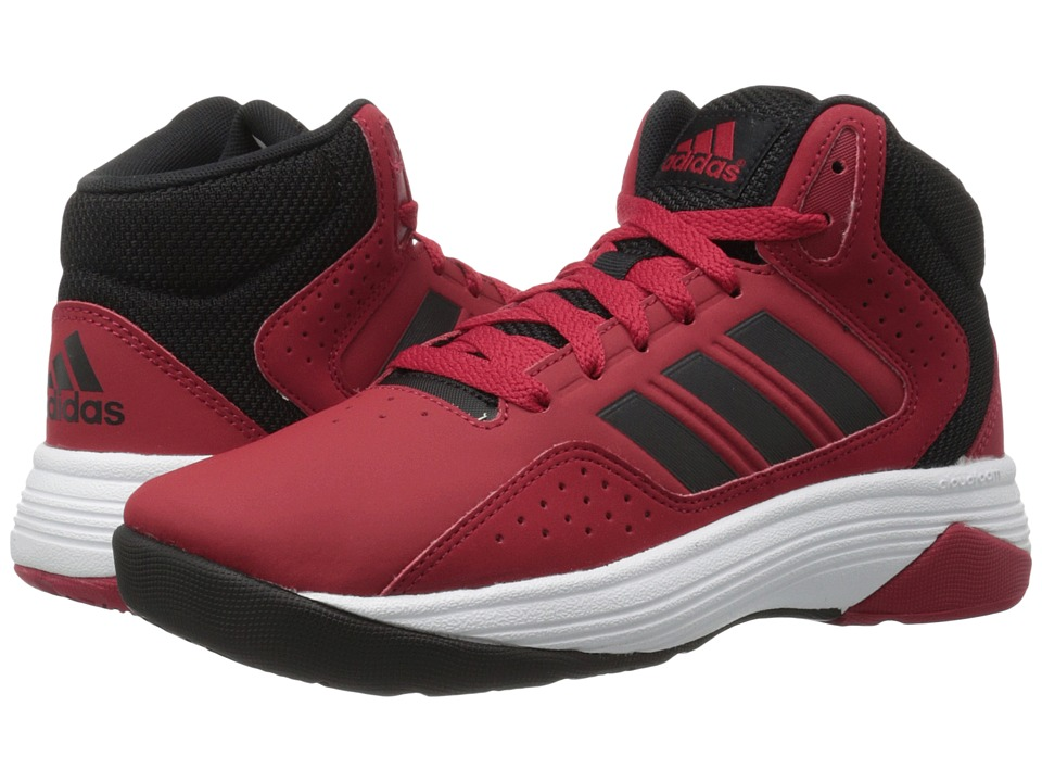 adidas Kids Cloudfoam Ilation Basketball (Little Kid/Big Kid) (Power Red/Black/White Leather) Boys Shoes