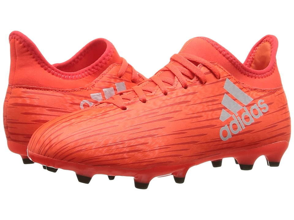 adidas Kids - X 16.3 FG Soccer (Little Kid/Big Kid) (Solar Red/Silver Metallic/Hi-Res Red) Kids Shoes