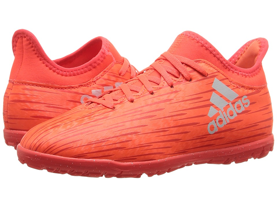 adidas Kids - X 16.3 TF Soccer (Little Kid/Big Kid) (Solar Red/Silver Metallic/Hi-Res Red) Kids Shoes