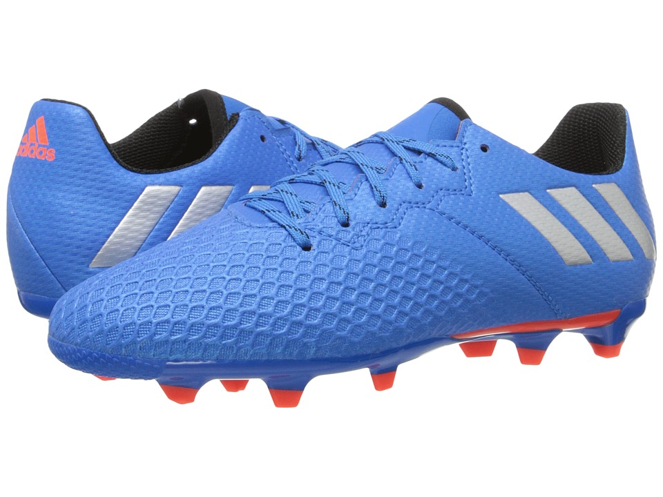 adidas Kids Messi 16.3 FG Soccer (Little Kid/Big Kid) (Shock Blue/Matte Silver/Black) Kids Shoes