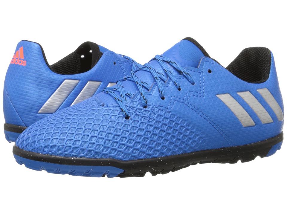 adidas Kids - Messi 16.3 TF Soccer (Little Kid/Big Kid) (Shock Blue/Matte Silver/Black) Kids Shoes