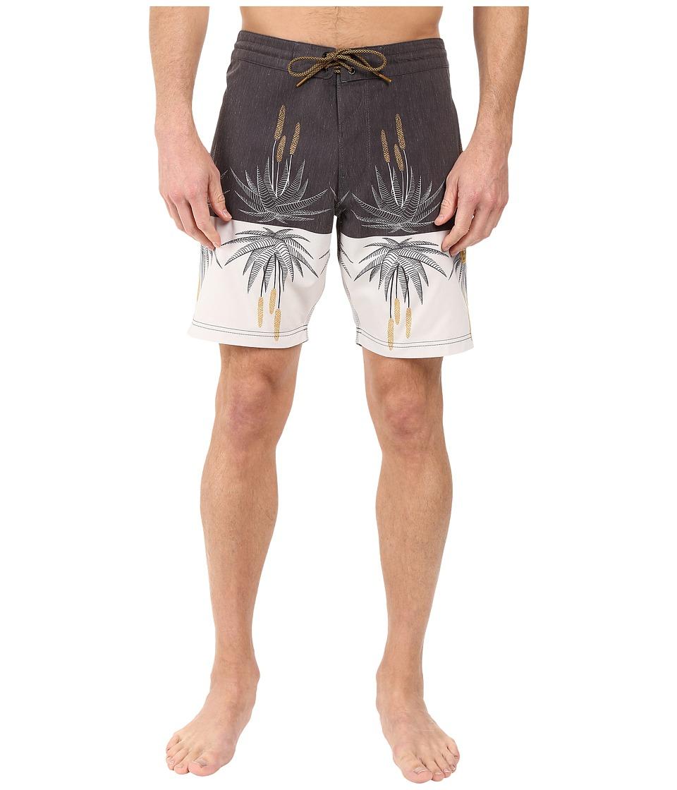 VISSLA - Aloe-Ha 4-Way Stretch Boardshorts 18.5 (Black) Men's Swimwear