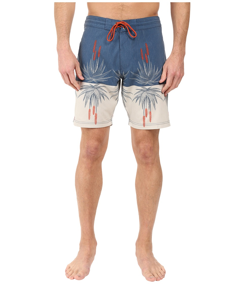 VISSLA - Aloe-Ha 4-Way Stretch Boardshorts 18.5 (Dark Navy) Men's Swimwear