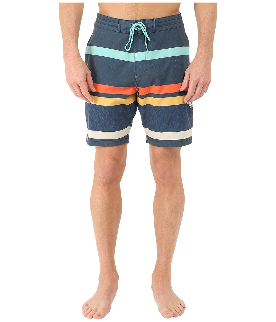 VISSLA - Mind Surf 4-Way Stretch Boardshorts 18.5 (Dark Navy) Men's Swimwear