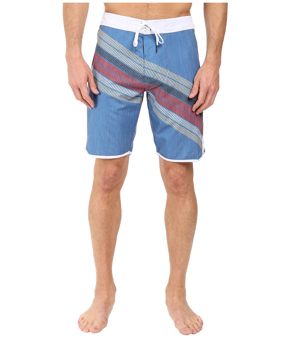 VISSLA - Drain Pipes 4-Way Stretch Boardshorts 20 (Royal) Men's Swimwear