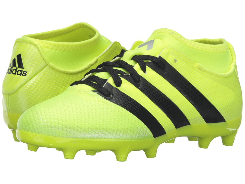 adidas Kids - Ace 16.3 Primemesh FG/AG Soccer (Little Kid/Big Kid) (Solar Yellow/Black/Silver Metallic) Kids Shoes
