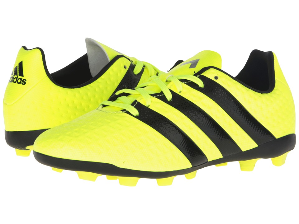 adidas Kids - Ace 16.4 FxG Soccer (Little Kid/Big Kid) (Solar Yellow/Black/Silver Metallic) Kids Shoes