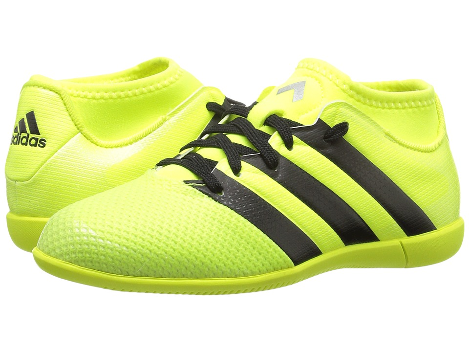adidas Kids - Ace 16.3 Primemesh IN Soccer (Little Kid/Big Kid) (Solar Yellow/Black/Silver Metallic) Kids Shoes