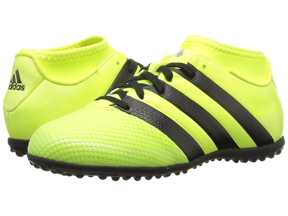 adidas Kids - Ace 16.3 Primemesh TF J Soccer (Little Kid/Big Kid) (Solar Yellow/Black/Silver Metallic) Kids Shoes