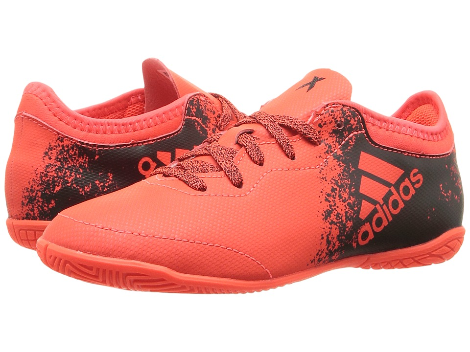 adidas Kids - X 16.3 Court Soccer (Little Kid/Big Kid) (Solar Red/Black) Boys Shoes