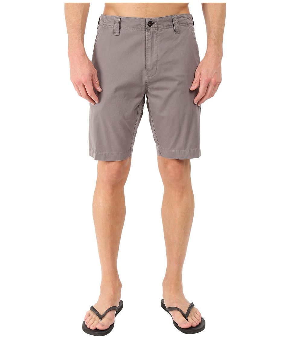 VISSLA - Outrigger Sanded Twill Walkshorts 19 (Grey) Men's Shorts