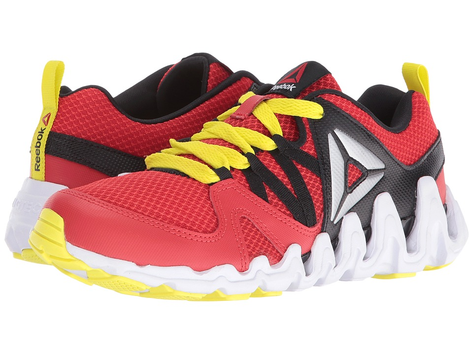 Reebok Kids - Zig Big N' Fast Fire (Big Kid) (Riot Red/Black/Hero Yellow/White/Silver Metallic) Boys Shoes