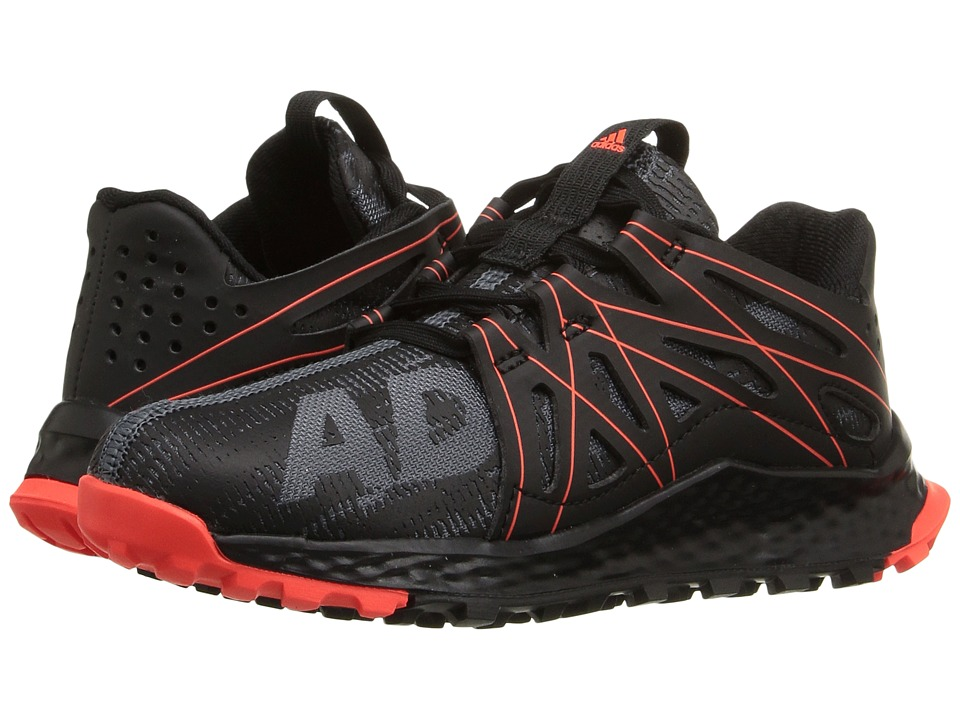 adidas Kids - Vigor Bounce (Little Kid) (Dark Grey/Black/Solar Red) Boys Shoes