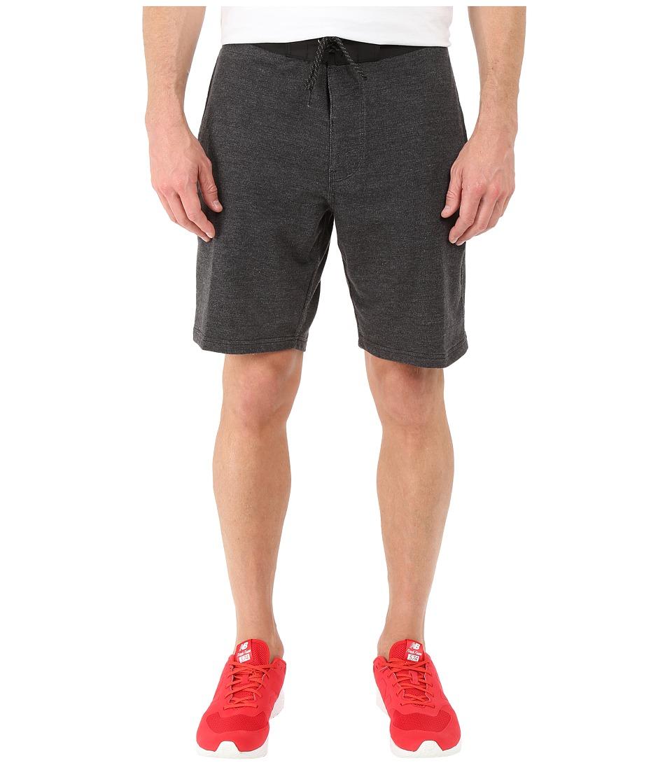 VISSLA - Sofa Surfer Factor Fleece Shorts 19 (Black Heather) Men's Shorts