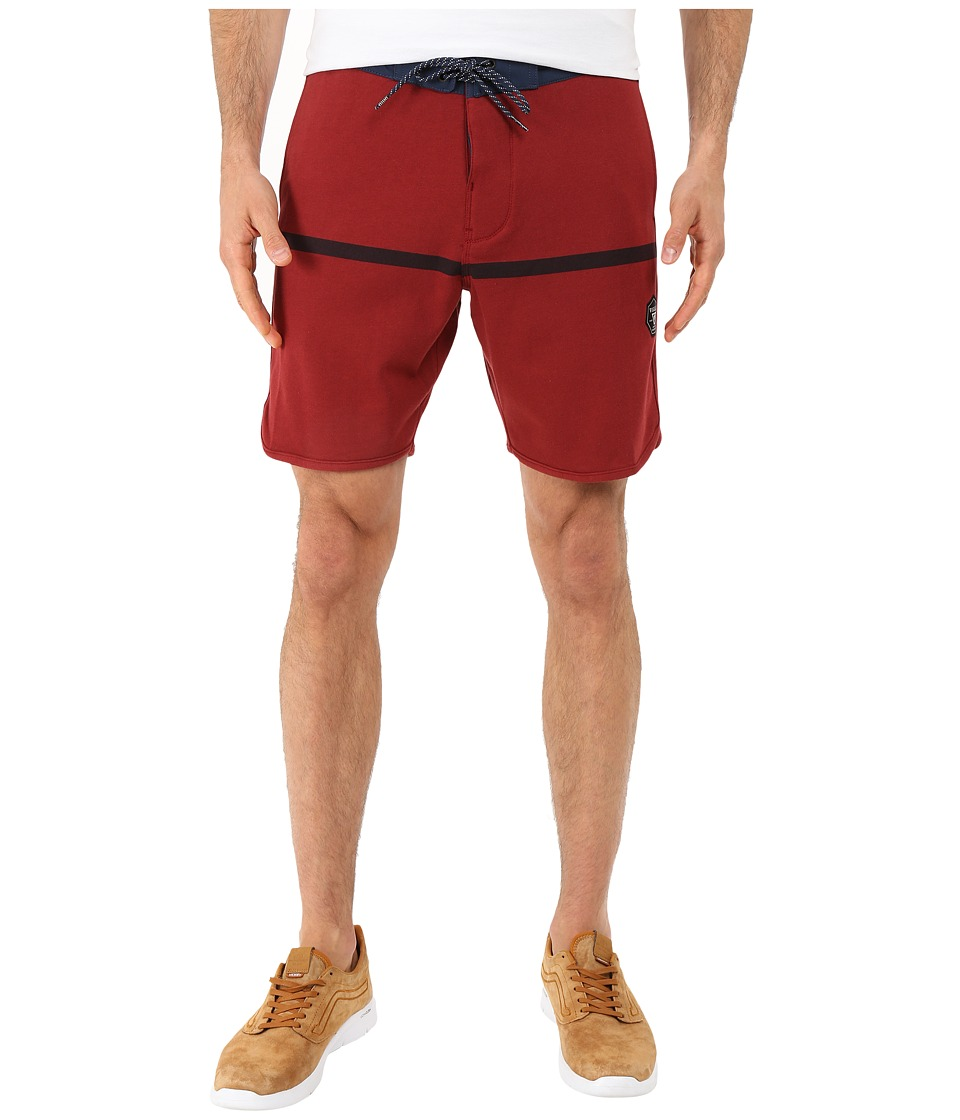 VISSLA - Sofa Surfer Chase Fleece Shorts 20 (Blood) Men's Shorts