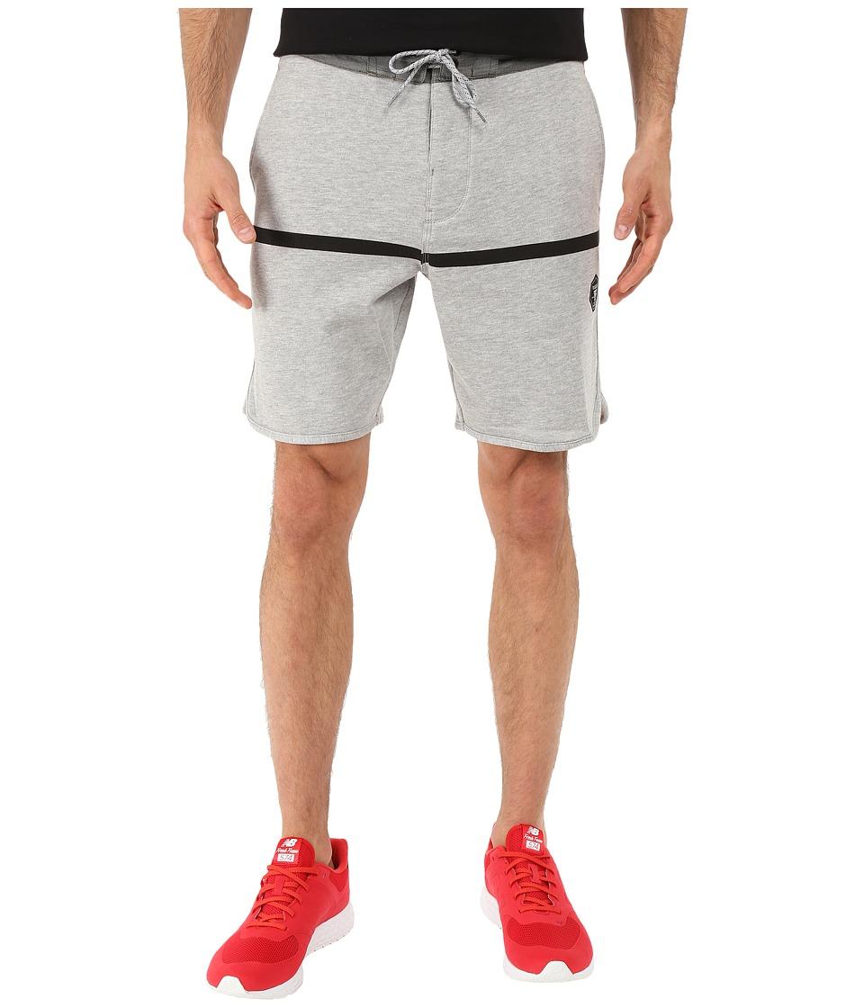 VISSLA - Sofa Surfer Chase Fleece Shorts 20 (Grey Heather) Men's Shorts