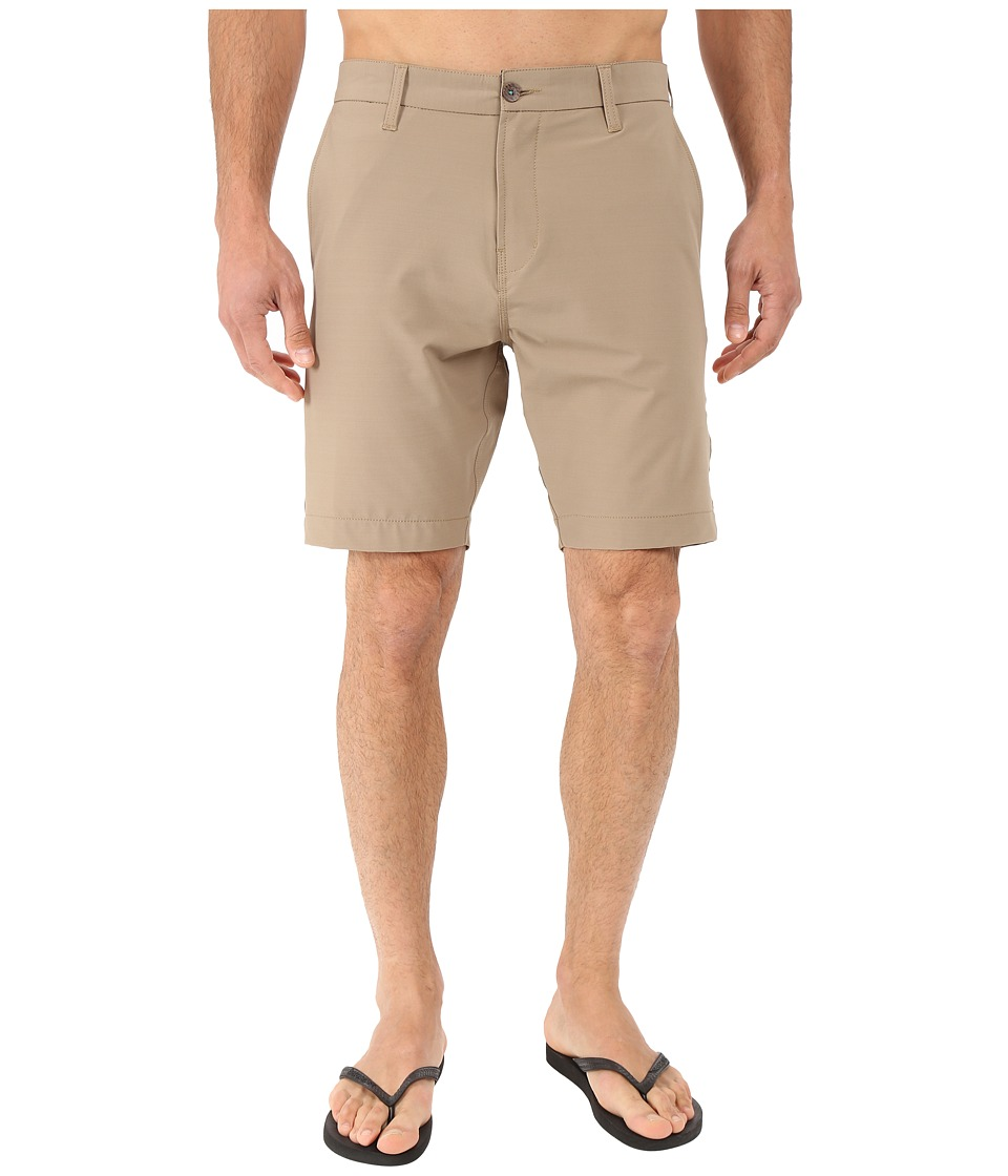 VISSLA - The Ledge 4-Way Stretch Hybrid Walkshorts 19 (Khaki) Men's Shorts