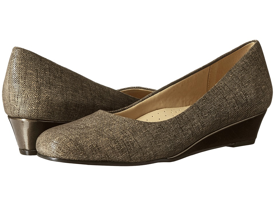 Trotters Lauren (Taupe Textured Leather) Women