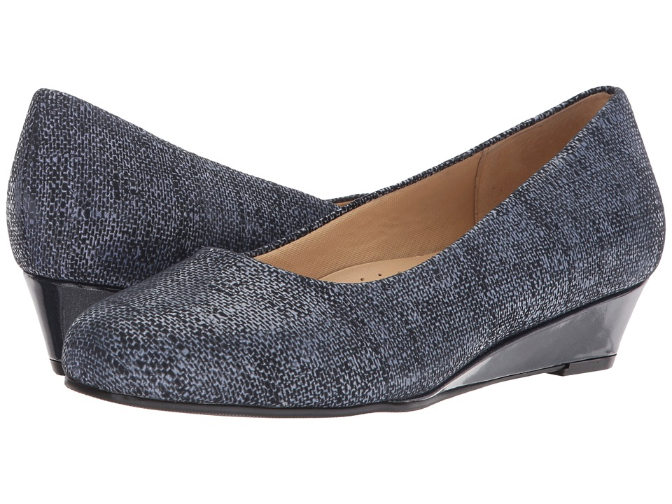 Trotters Lauren (Navy Textured Leather) Women