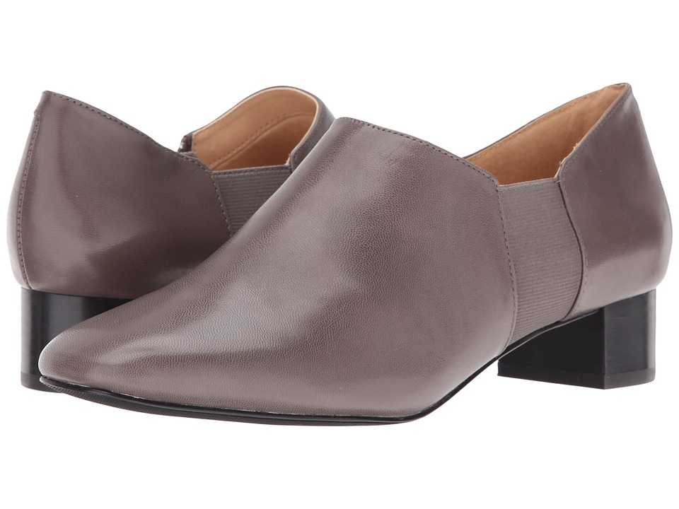 Trotters - Lillian (Dark Grey Veg Goat Leather) Women's 1-2 inch heel Shoes