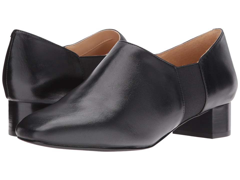 Trotters - Lillian (Black Veg Goat Leather) Women's 1-2 inch heel Shoes