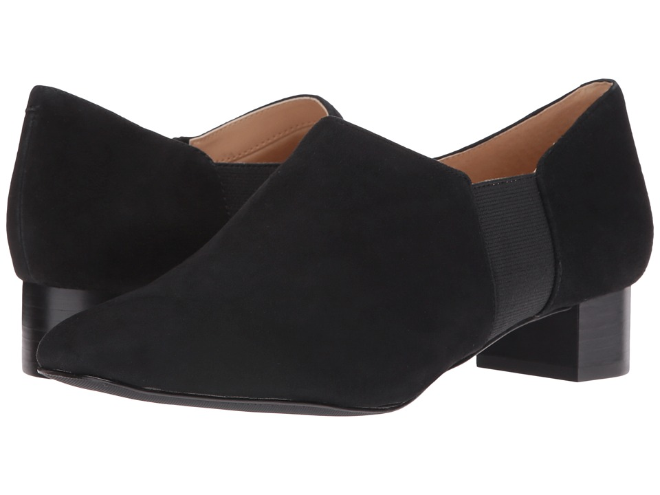 Trotters - Lillian (Black Kid Suede Leather) Women's 1-2 inch heel Shoes