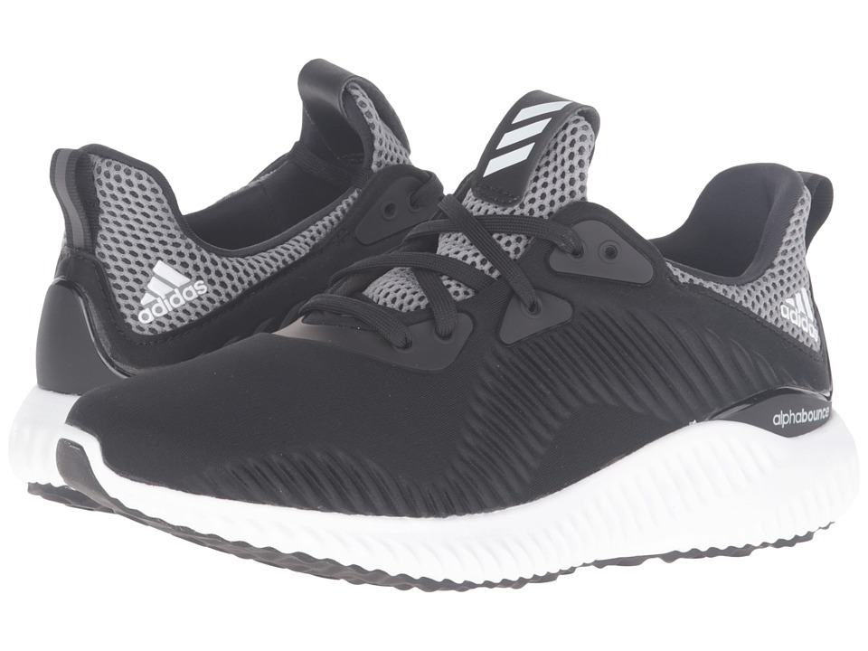 adidas Kids - Alpha Bounce (Big Kid) (Core Black/Footwear White/Onix) Boys Shoes