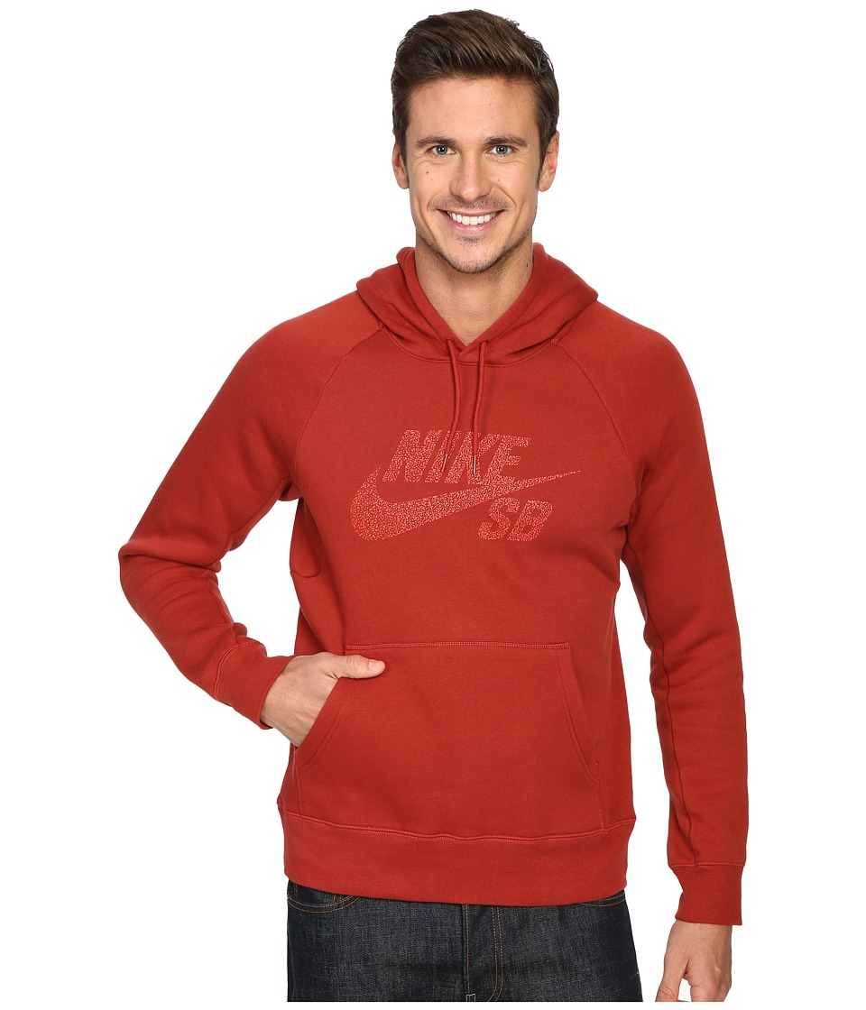 Nike SB - SB Icon Dots Pullover Hoodie (Dark Cayenne/Light Crimson) Men's Sweatshirt