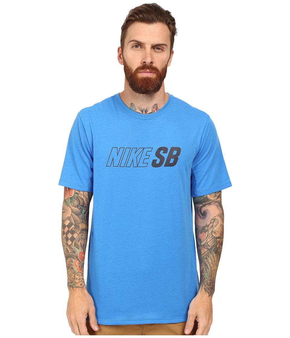 Nike SB - SB Skyline Dri-FIT Cool GFX Short Sleeve Shirt (Light Photo Blue/Light Photo Blue/Obsidian) Men's Short Sleeve Pullover