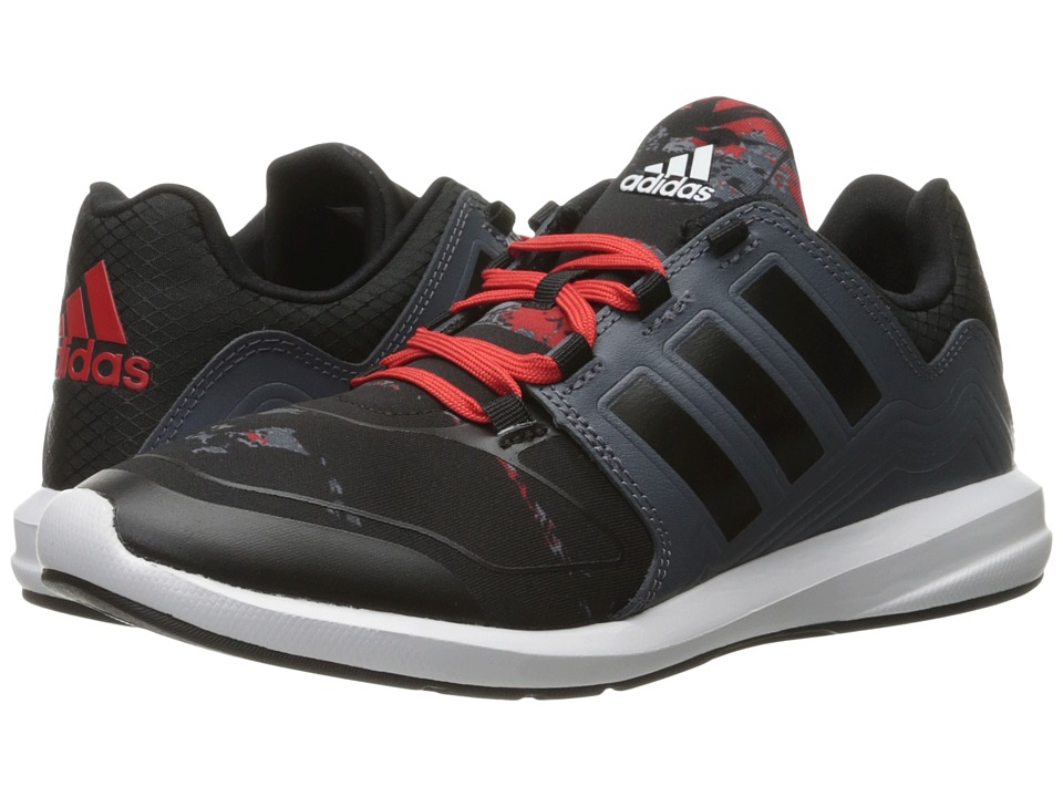 adidas Kids S-Flex (Little Kid/Big Kid) (Black/Vivid Red) Boys Shoes