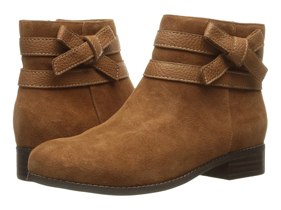 Trotters - Luxury (Tan Cow Suede/Cognac Tumbled) Women's Boots