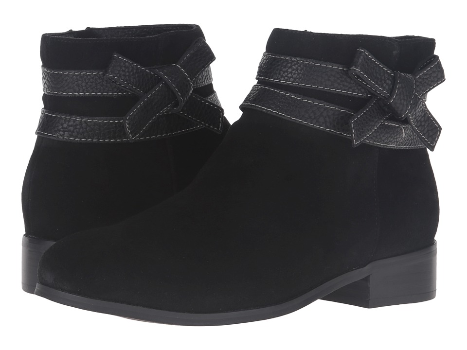 Trotters - Luxury (Black Cow Suede/Tumbled) Women's Boots