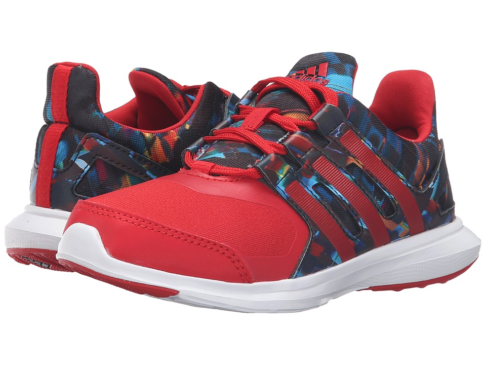 adidas Kids - Hyperfast 2.0 (Little Kid/Big Kid) (Black/Collegiate Red/White) Kids Shoes