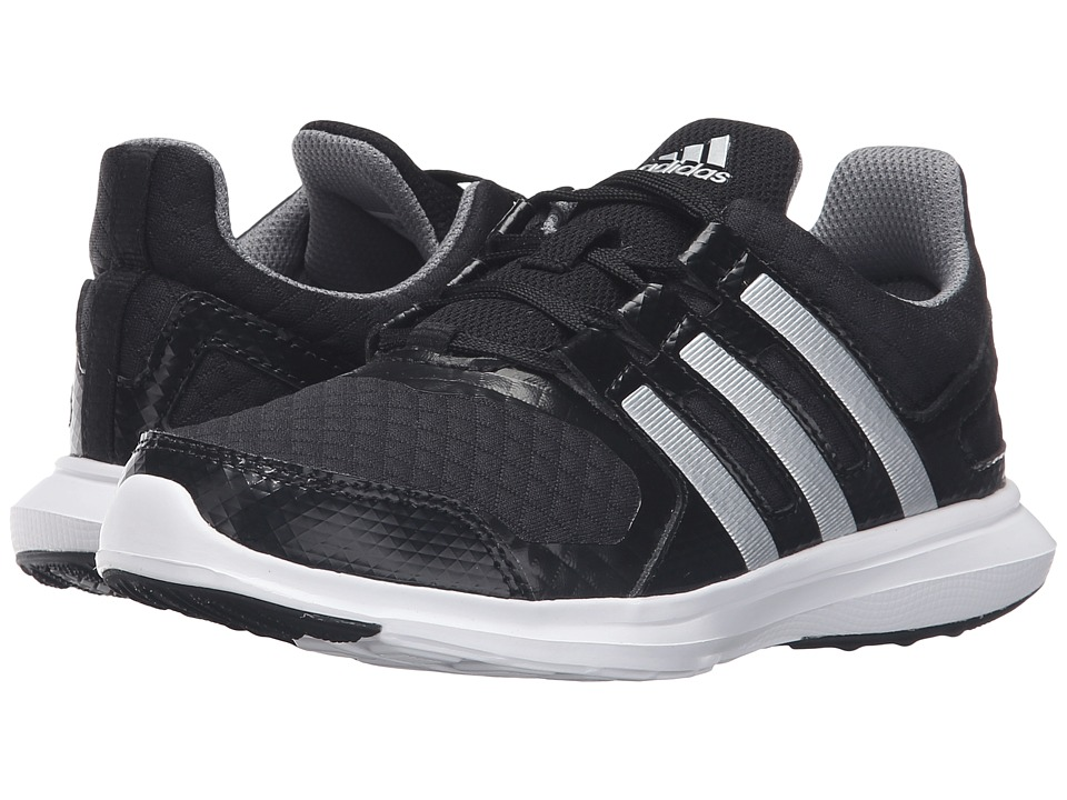 adidas Kids Hyperfast 2.0 (Little Kid/Big Kid) (Black/Silver Metallic/Grey) Kids Shoes