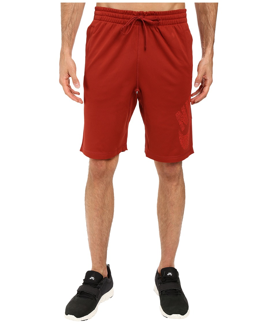 Nike SB - SB Dri-Fit Dot Sunday Shorts (Dark Cayenne/Light Crimson) Men's Shorts