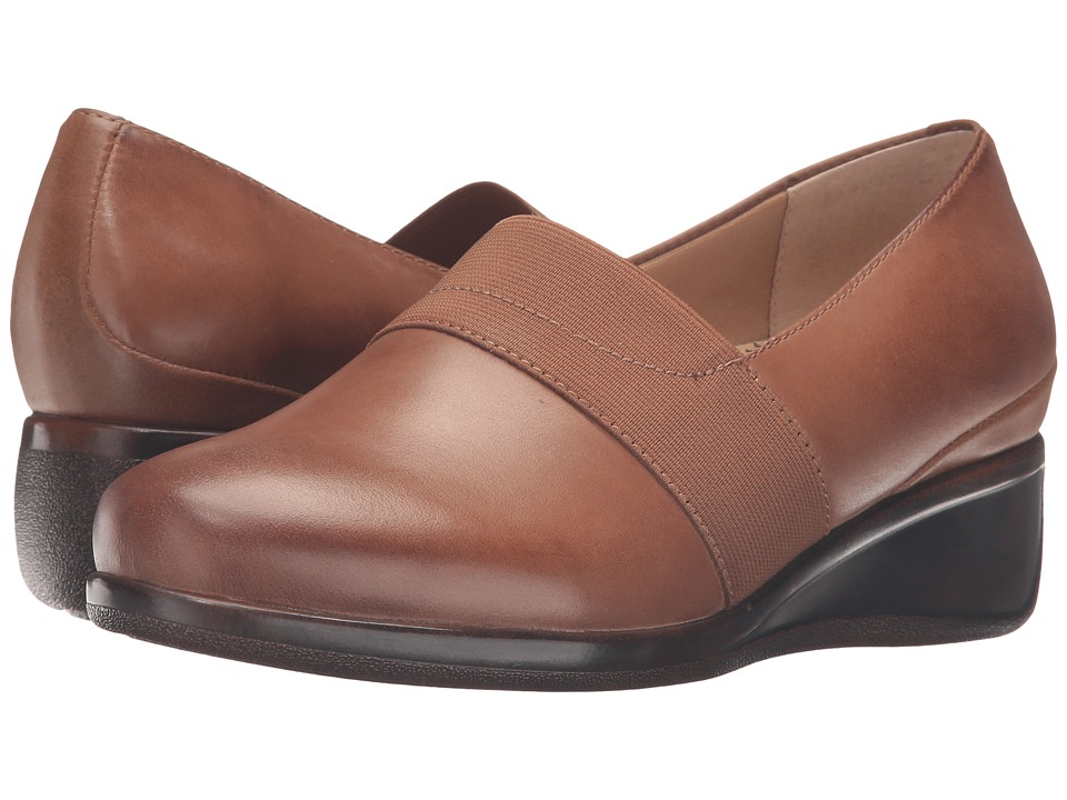 Trotters - Marley (Cognac Tumbled Leather) Women's Slip on Shoes